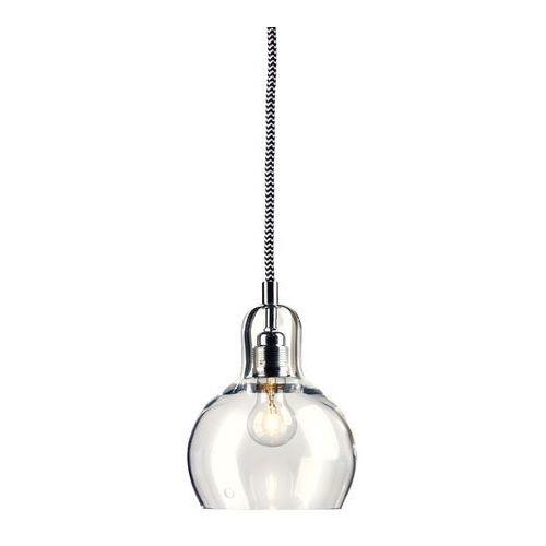 LAMPA wisząca LONGIS I 10125109 Kaspa szklana OPRAWA minimalistyczny ZWIS przezroczysty czarny biały (5902047300301)