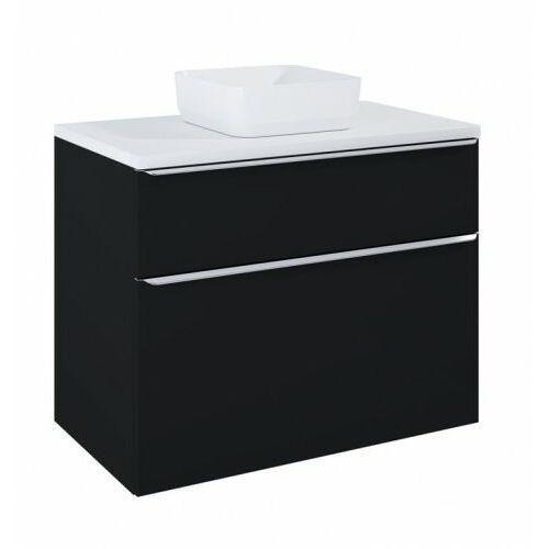ELITA szafka Lofty 90 black matt pod umywalkę nablatową + blat 90 white 168304+167035