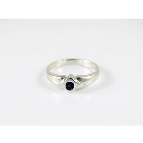 Srebrny pierścionek 925 NIEBIESKIE OCZKO r. 16, kolor niebieski