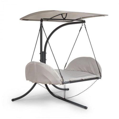 Blumfeldt Fountain Valley, Wiszące krzesło, Poduszka siedziska, Zadaszenie przeciwsłoneczne, 180g Poliester, Beżowy (4060656153433)