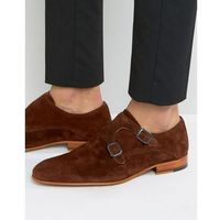 suede monk strap shoes - brown, Zign