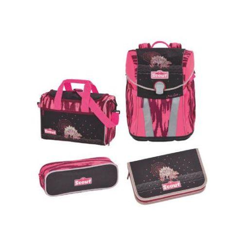 sunny plecak i akcesoria szkolne, 4-częściowy - pink dino marki Scout