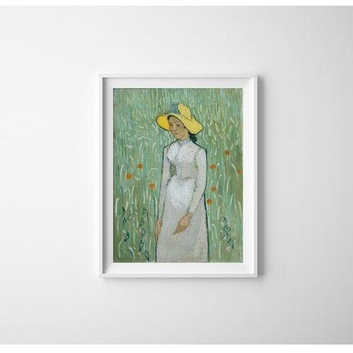 Plakat w stylu retro plakat w stylu retro dziewczyna w bieli vincent van gogh marki Vintageposteria.pl