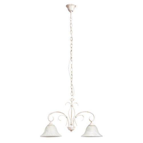 Rabalux Lampa wisząca katherine 2x60w e27 antyczny biały 7189