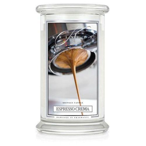 ESPRESSO CREMA wieca zapachowa Kringle Candle Kremowe espresso duży 2 knoty słoik 22oz, 623g,