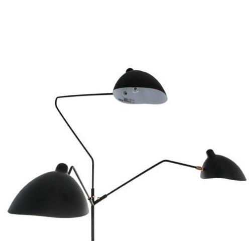 Italux Stojąca lampa podłogowa davis mle3048-3 v3  oprawa metalowa czarna