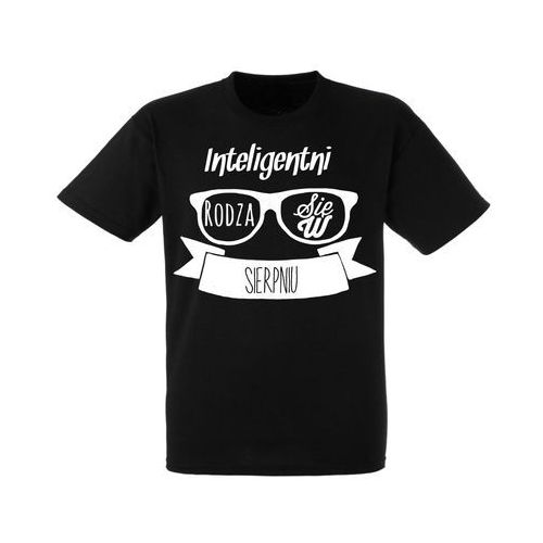 Koszulka Czarna Urodziny Sierpień Inteligentni - URKC002-08