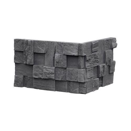 kamień dekoracyjny płytka kątowa lugano grafit opk. 1,24mb marki Max-stone