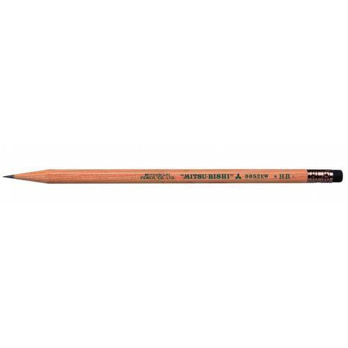 Uni Ołówek 9852 z gumka, hb, z drewna cedrowego - rabaty - porady - negocjacja cen - autoryzowana dystrybucja - szybka dostawa.