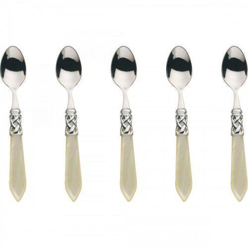 ALADDIN - Komplet 6 łyżeczek do moka / kolor perłowa kość słoniowa