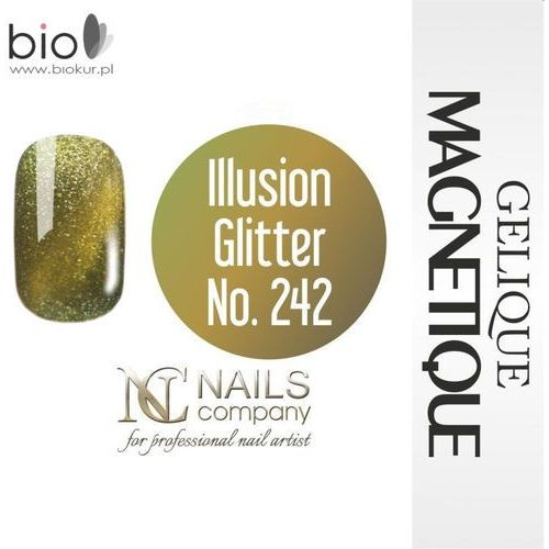 Gelique magnetique - illusion glitter no. 242 - 6 ml marki Nails company