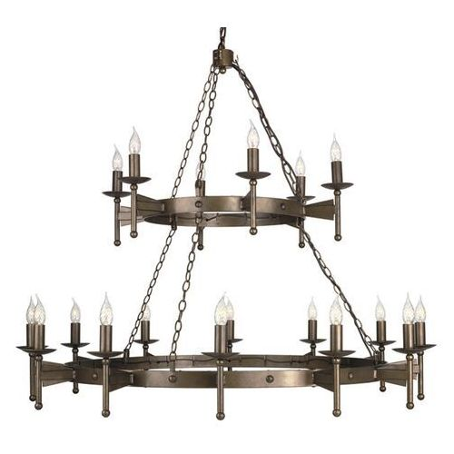 Elstead Średniowieczny żyrandol cromwell 18-punktowy (5024005516309)