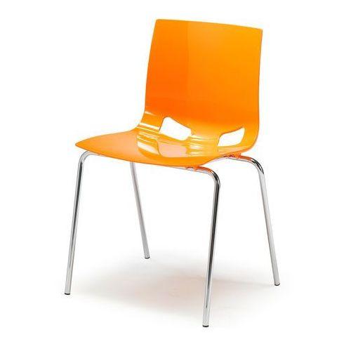 Krzesło plastikowe juno pomarańczowy marki Aj