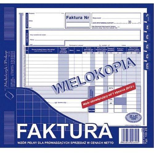 Faktura vat 2/3 a4 typ 100-2e wielokopia marki Michalczyk i prokop