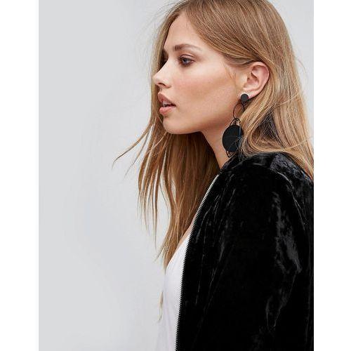 matte disc hoop earrings - black marki New look
