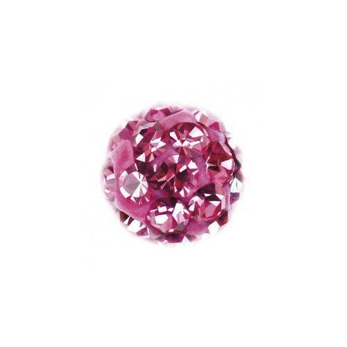 System75 4,5 mm kulka z różowymi kryształkami 7522-0310