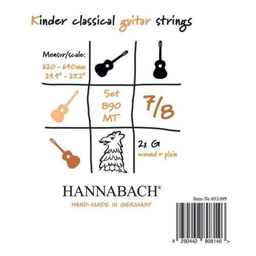 (653098) 890 mt struna do gitary klasycznej 7/8, menzura 62-64cm (medium) - g3 marki Hannabach