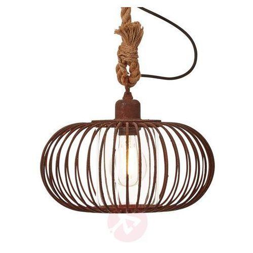 1-punktowa lampa wisząca race - kolor rdzy marki Brilliant