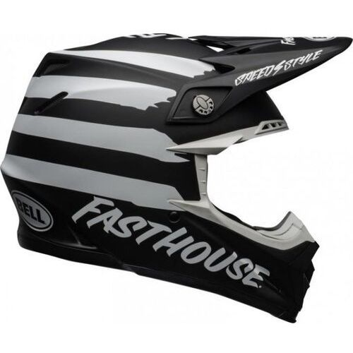 Bell kask off-road moto-9 fasthouse si matt bla/wh