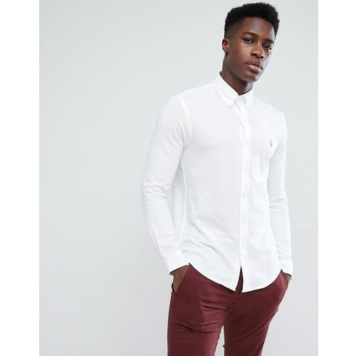 slim fit pique shirt multi player stretch in white - white, Polo ralph lauren, L-XXL