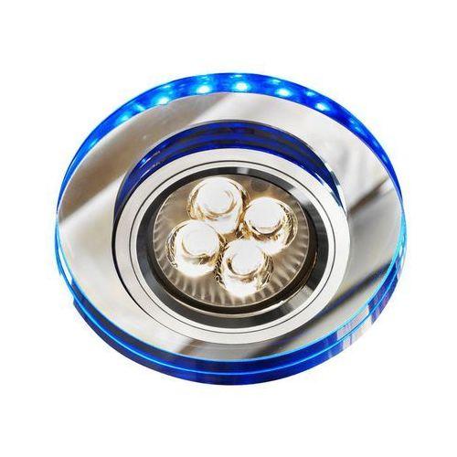 Oprawa sufitowa oczko halogenowe Candellux SS-23 CH/TR+BL 1x50W GU10 + 2,1W LED SMD chrom, niebieski 2226965, 2226965