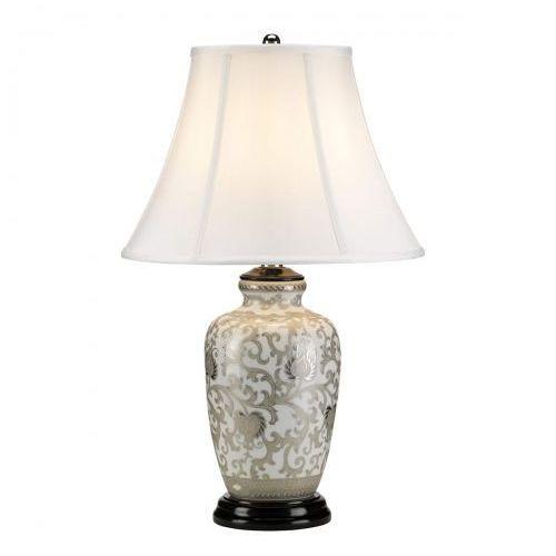 Silver Thistle Nocna Elstead SILVERTHISTLE/TL 58cm porcelana-srebrny-biały