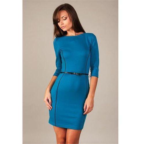 Sukienka model pola paryski błękit marki Vera fashion