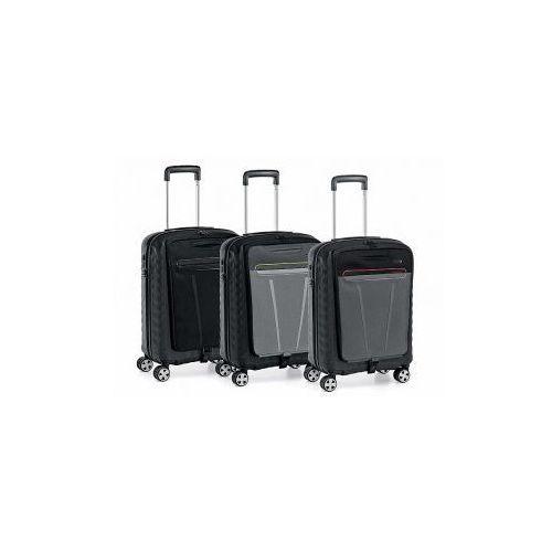 """Roncato walizka biznesowa z torbą na laptopa 15,5"""" z kolekcji double mała/ kabinowa 4 koła materiał policarbon zamek tsa"""