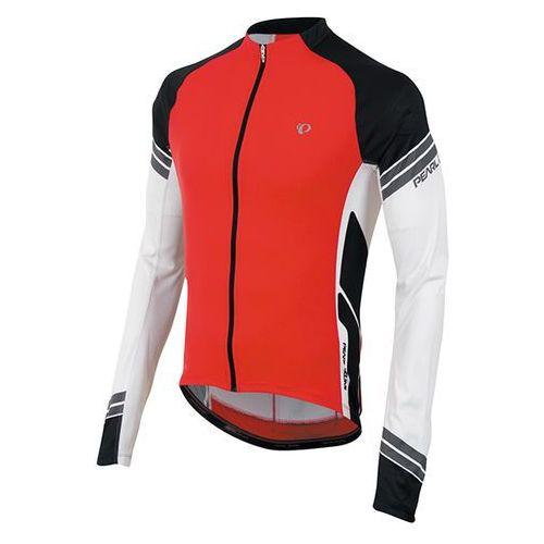Pearl izumi elite - męska koszulka rowerowa długi rękaw (czerwono-czarny)