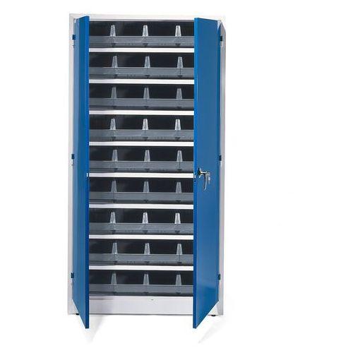 Szafa warsztatowa z pojemnikami, 36 szarych pojemników, 1900x1000x400 mm marki Aj produkty