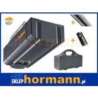 Zestaw: napęd promatic akku seria 2 (zasilany z baterii, siła 400 n, do 8 m2) + szyna + pilot hs 4 bs marki Hormann