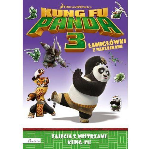 Dream Works Kung Fu Panda 3 Mistrzowie kung-fu Łamigłówki z naklejkami