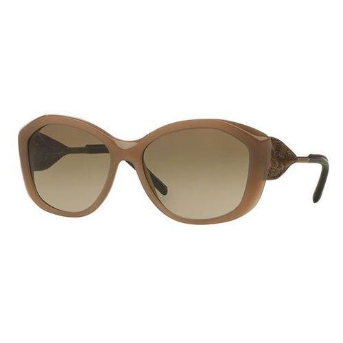 Okulary Słoneczne Burberry BE4208QF Gabardine Lace Asian Fit 357213, kolor żółty
