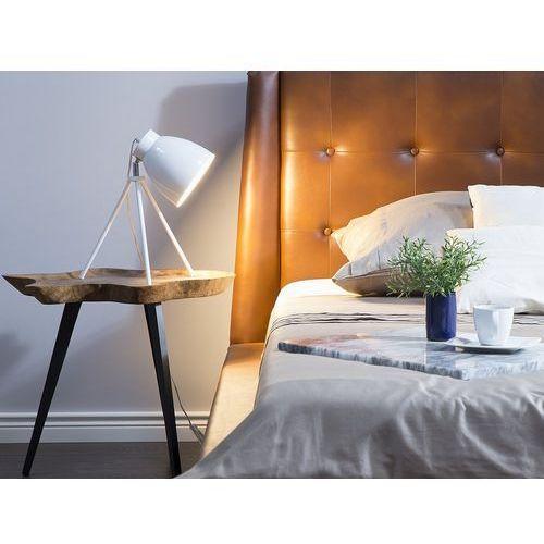 Beliani Lampa stołowa biała 43 cm tamega (4260586358421)