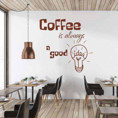 Szablon na ścianę Coffee is always a good idea 2514