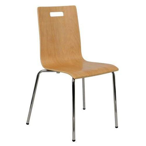 Krzesło ze sklejki, stelaż chromowany. Model TDC-132 z otworem., TDC132ZOTWBUK