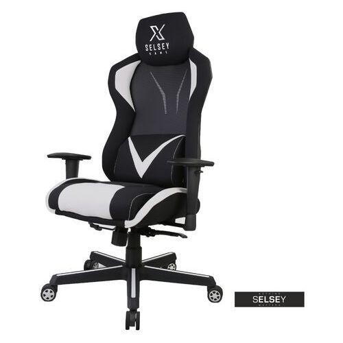 SELSEY Fotel gamingowy Regeo czarno - szary