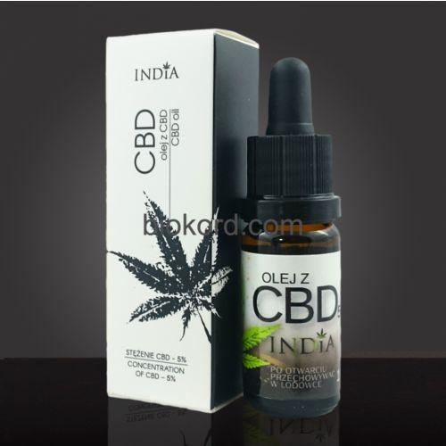 Olej z CBD 5% 10ml, India Cosmetics. Najniższe ceny, najlepsze promocje w sklepach, opinie.