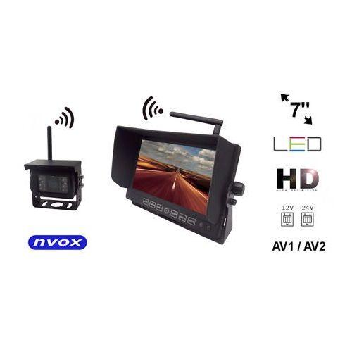 """NVOX HM712W Bezprzewodowy zestaw cofania z monitorem LED 7"""" cali HD oraz kamerą bezprzewodową 12V 24V (5909182417949)"""