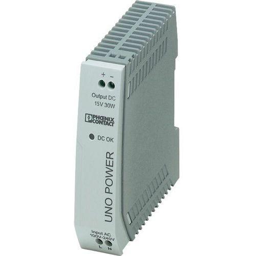 Zasilacz na szynę DIN Phoenix Contact UNO-PS/1AC/15DC/30W 15 V/DC 2 A 30 W 1 x, UNO-PS/1AC/15DC/30W