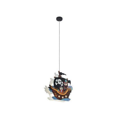 Lampa wisząca Eglo San Carlo 97409 sufitowa dziecięca 2x25W E27 wielokolorowa, 97409