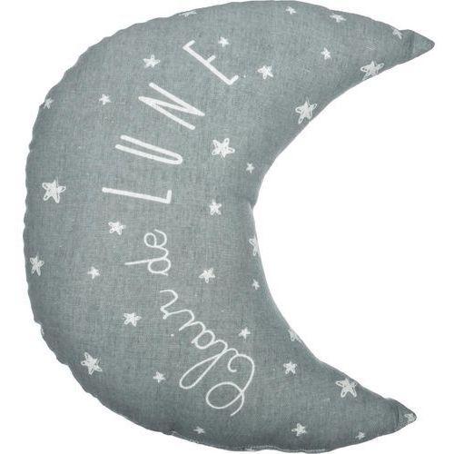 Szara poduszka dekoracyjna w kształcie KSIĘŻYCA - 30 x 27 cm (3560238908747)