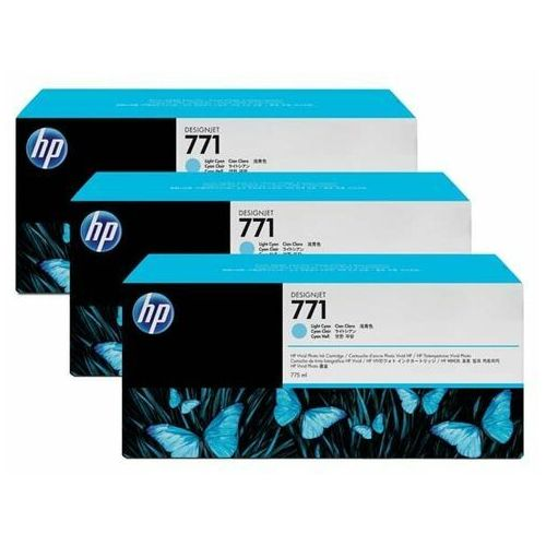 HP oryginalny ink CR255A, light cyan, 3x775ml, No.771, HP 3-Pack, Designjet Z6200