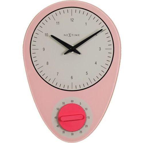 - zegar ścienny z minutnikiem hans - różowy marki Nextime