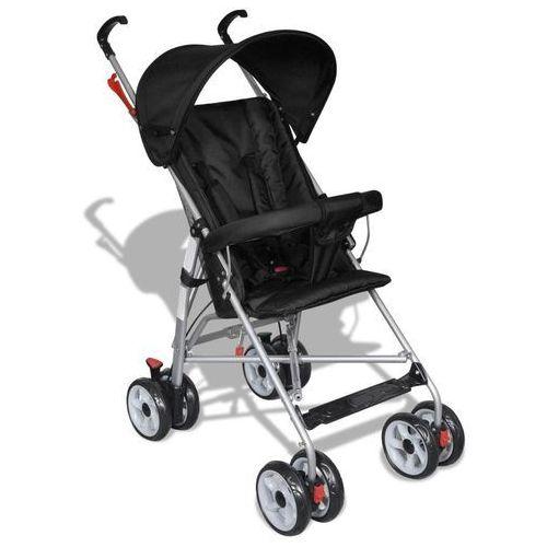 wózek spacerowy dla dziecka czarny marki Vidaxl