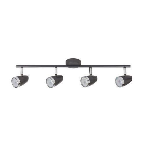 Listwa lampa oprawa sufitowa spot karen 4x4w led antracyt / chrom 6515 marki Rabalux