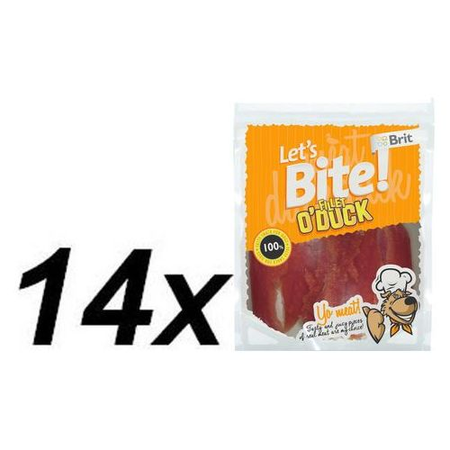 Brit przysmak dla psa lets bite fillet o'duck 14x80g