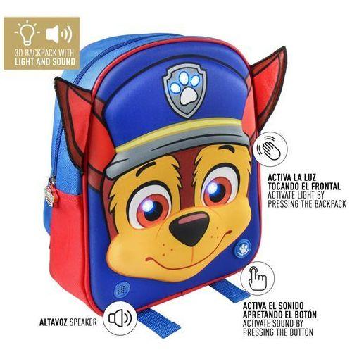 Cerda Plecak 3d ze światełkami led i dźwiękiem (j.hiszpański) psi patrol