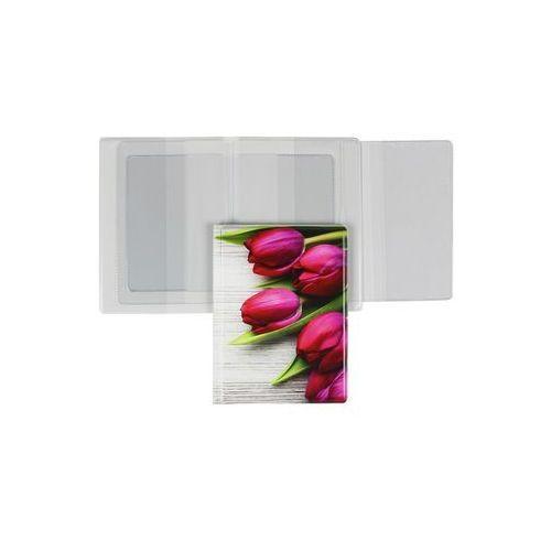 Biurfol Okładka dokumenty dowód rejestracyjny legitymacja - tulipany