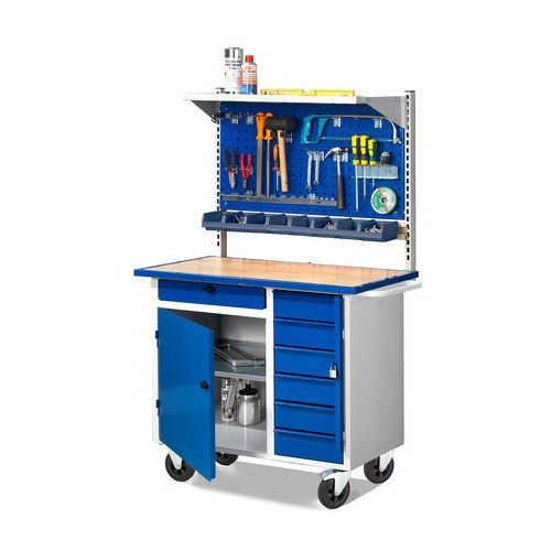 Aj produkty Stół warsztatowy flex z wyposażeniem, mobilny, 7 szuflad